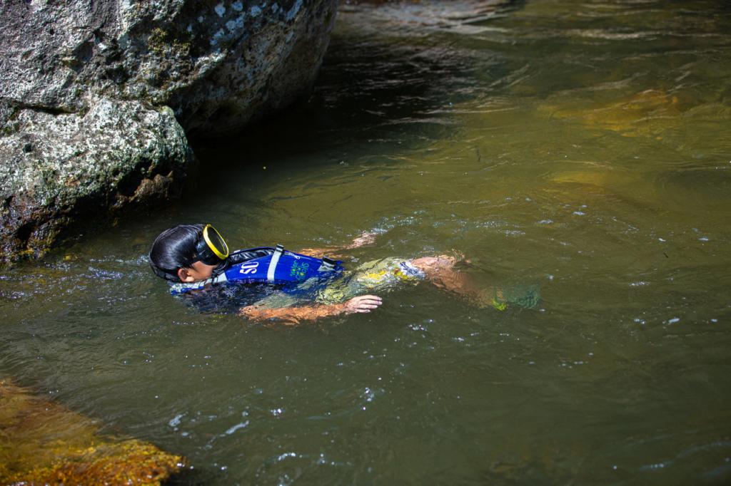 夏といえば、秋保で川遊び!泳ぐ!探検!