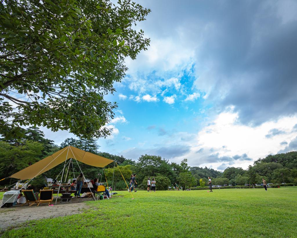 水の森キャンプ場のあそび:野球