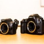 Canon EOS KISS X7、右がCanon EOS 5D Mark Ⅲ01