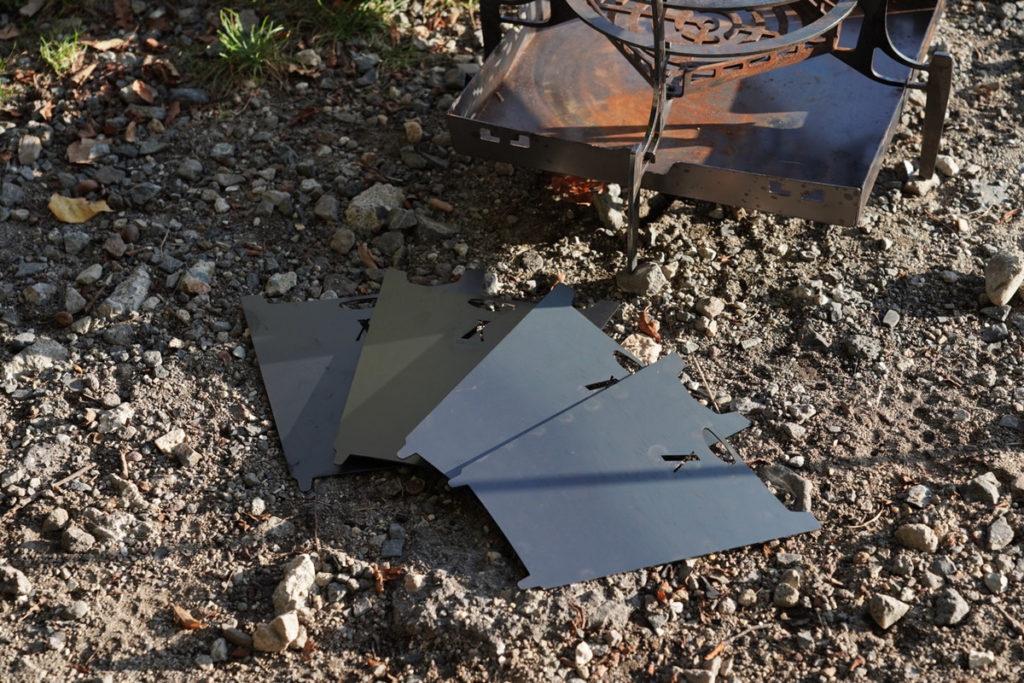 GURU GURU FIRE風防を使うことで燃焼効率と火力のコントロール