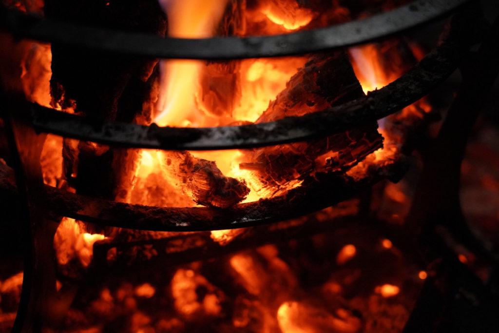 秋と言えば焚き火の季節