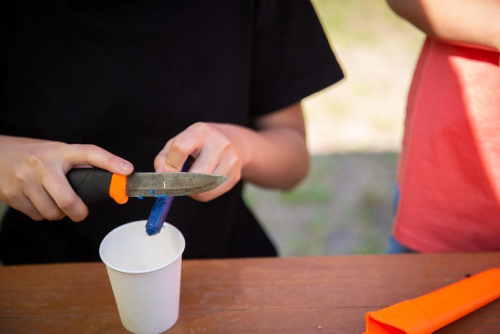 キャンプでキャンドル、作り方
